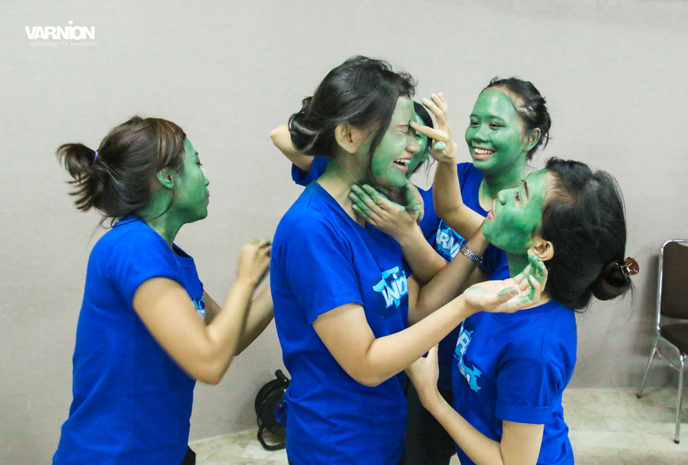 The Winning Team of Army Look Make Up Competition - Varnion Ladies Camp 2015 - Day 2