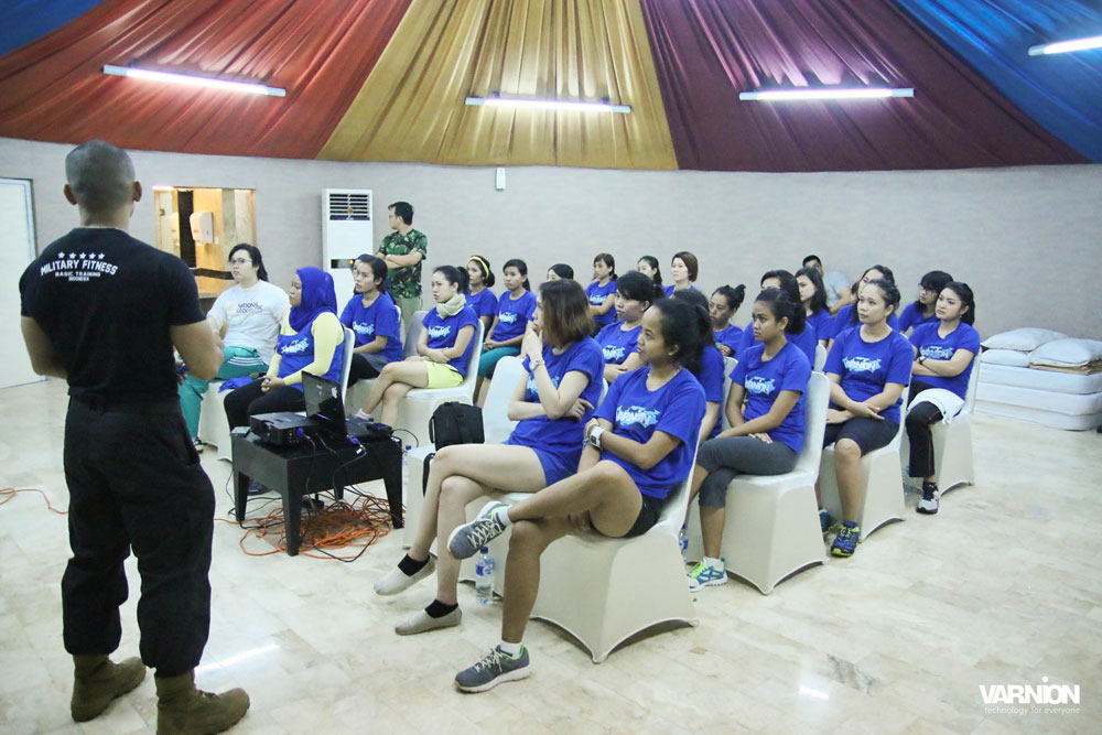 Sgt. Elbert from MFBTI Taught Leadership Class in Varnion Ladies Camp 2015 - Day 2