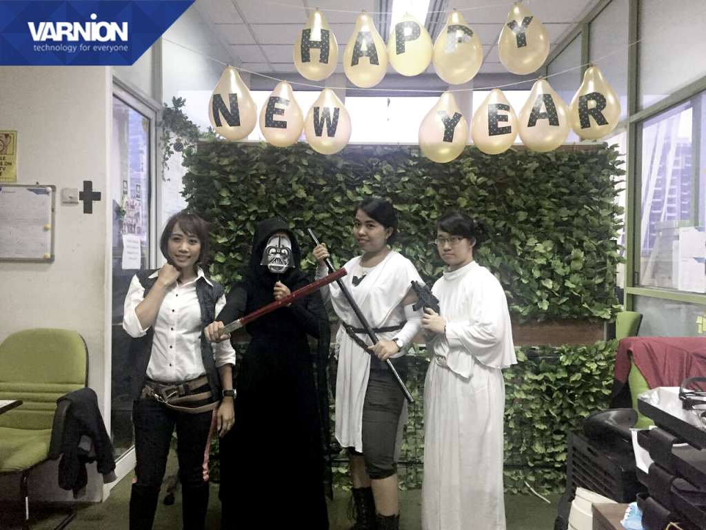 Billing Team dressed up as Star Wars characters